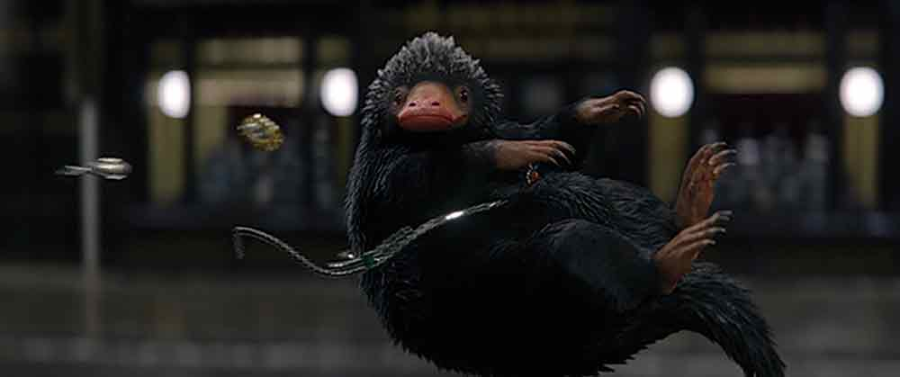 A Niffler, one of the beasts created for the film.