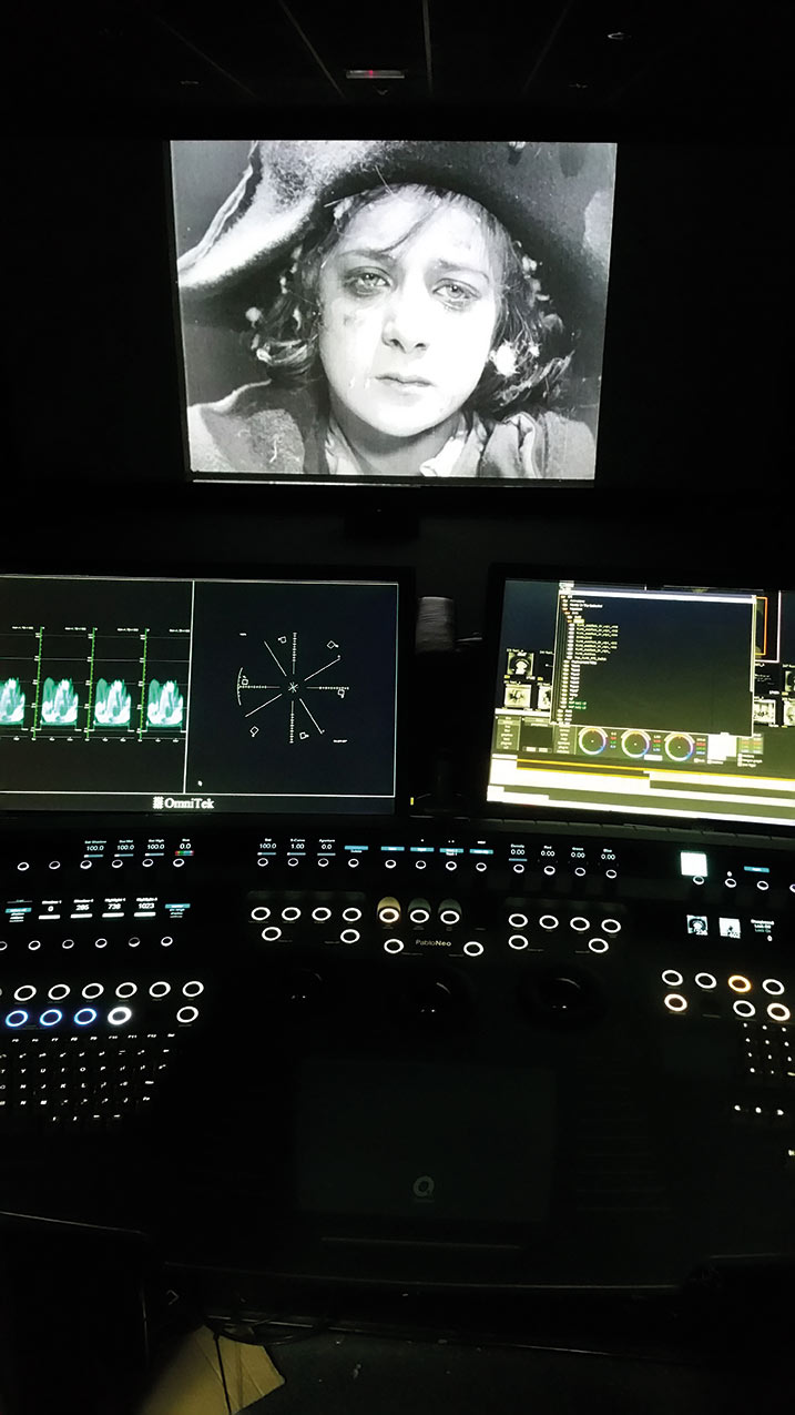 The Quantel Rio system was used to reinstate tints and tones that would have been present in the original 1927 print of  Napoleon .