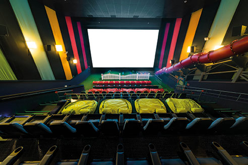 The Cinepolis chain of cinemas now incorporate a soft play area to encourage families to come and watch films – play stops 15 minutes before films begin.