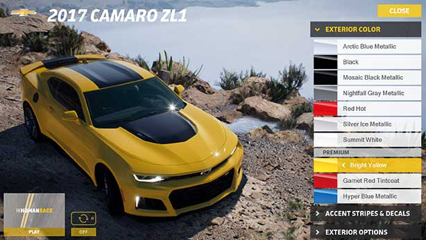 Live VFX can be used for something like car customisation –don't like the colour then change it.