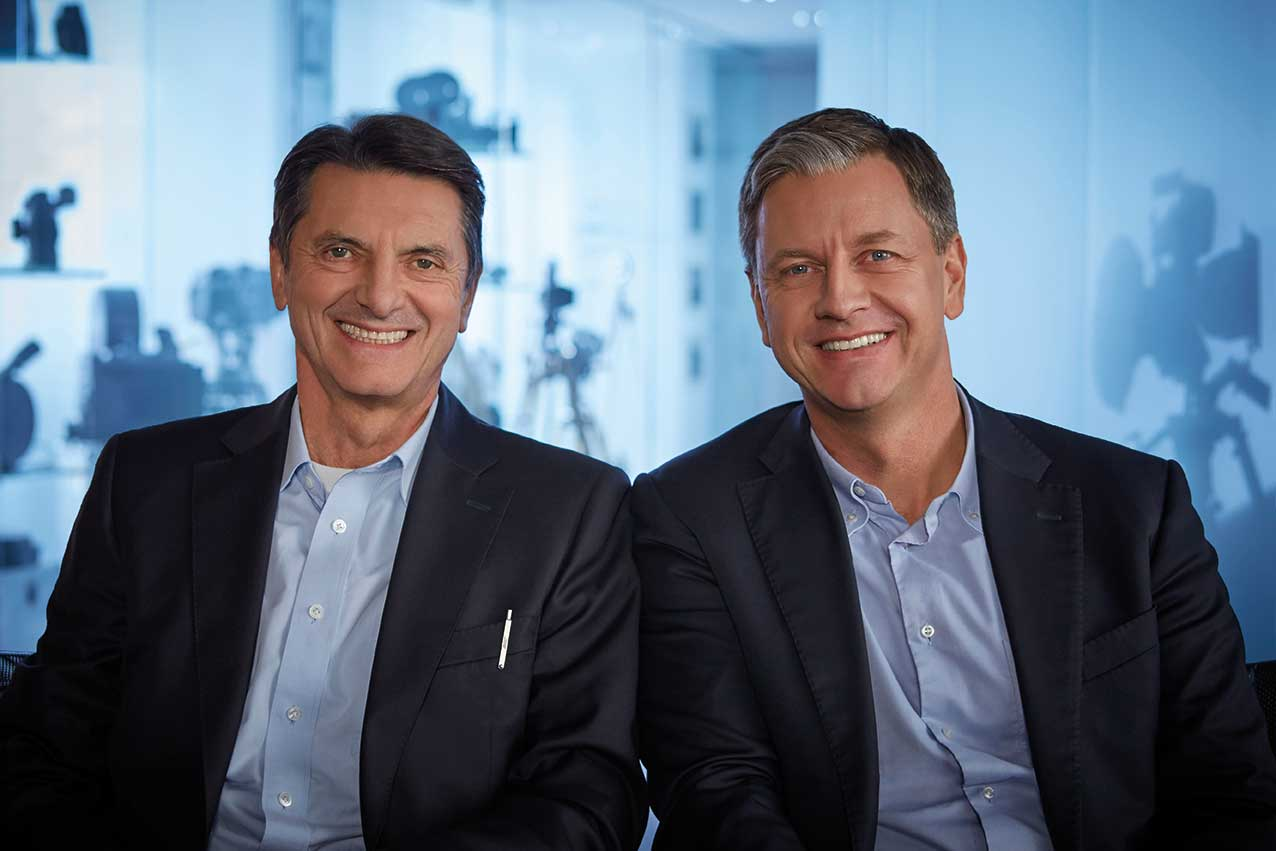 Arri's current executive board, Franz Kraus (left) and Dr Jörg Pohlman (right).