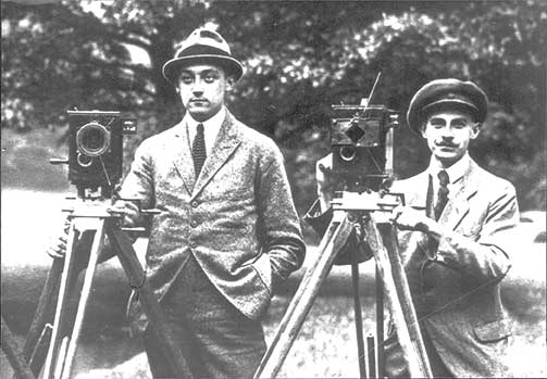Robert Richter (left) and August Arnold (right), founders of ARRI.