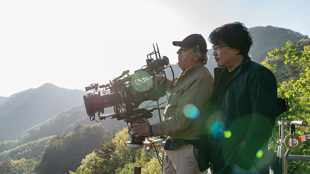 DIT Dan Skinner adjusted his workflow to give Bong Joon-ho and DOP Darius Khondji (pictured above) the required creative flexibility and control.