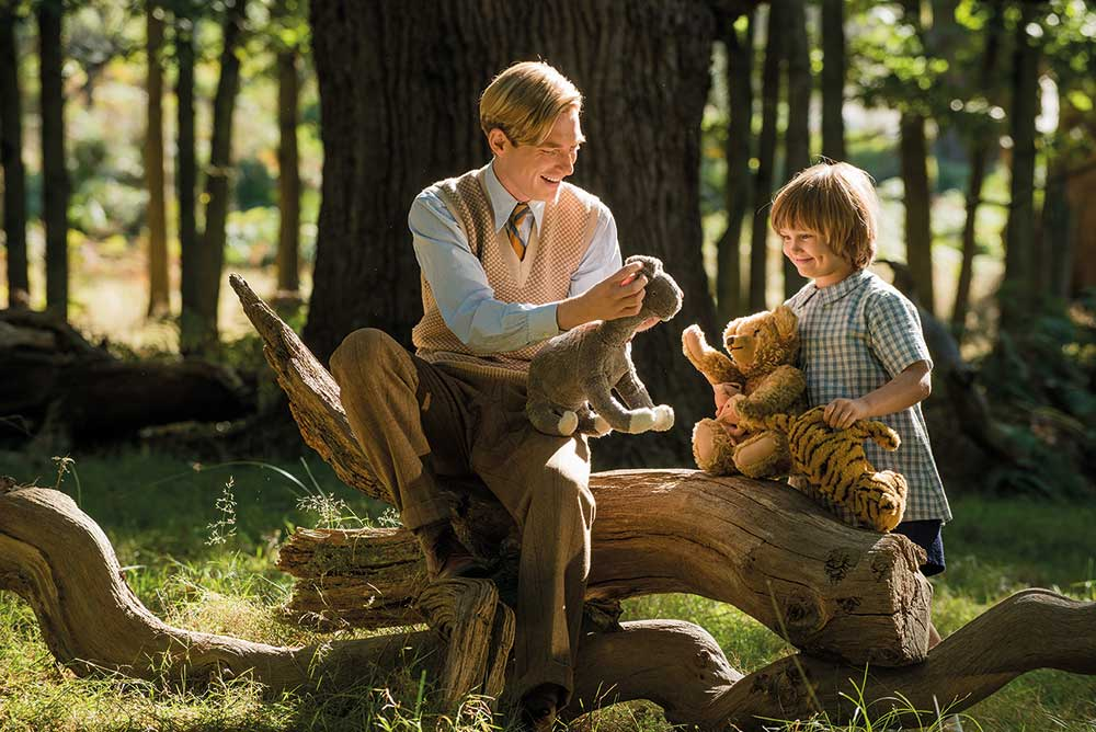 Will Tilston plays Christopher Robin. here with Domhnall as his father.