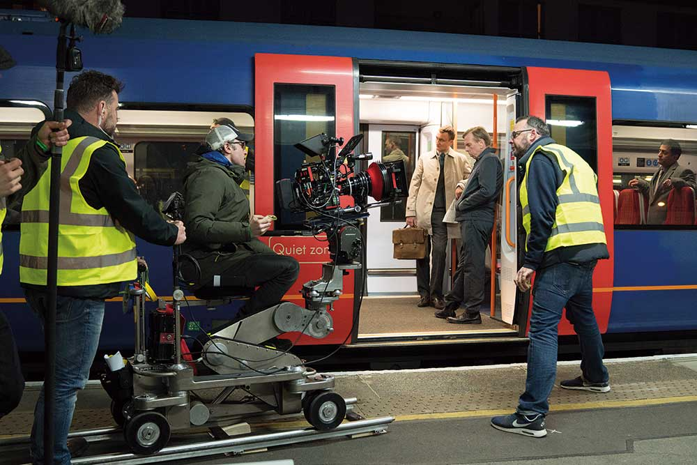 On-set with DOP Ollie Downey and the RED.