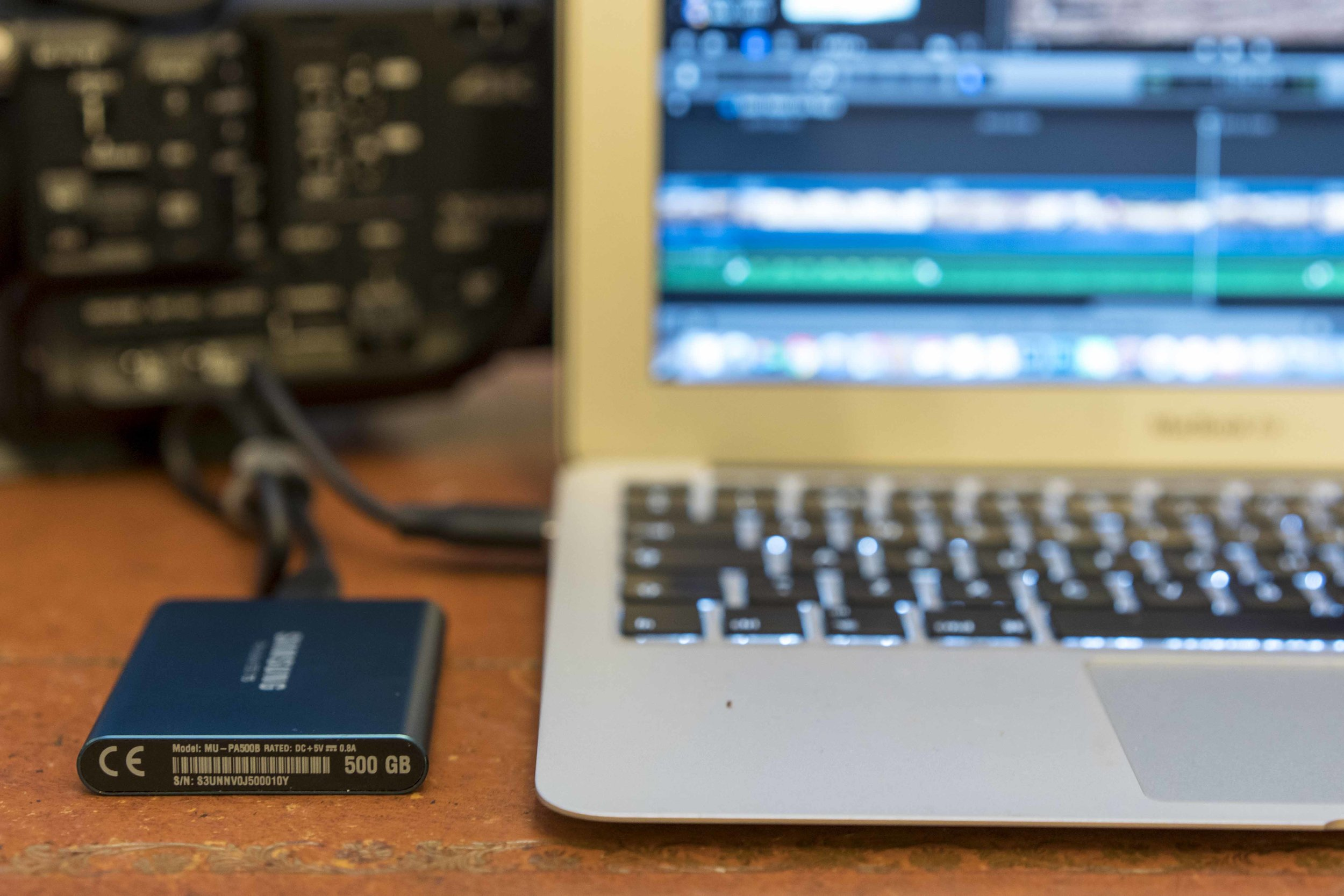 Thanks to the Samsung Portable SSD T5, John Owens is able to quickly and efficiently transfer his footage, saving time on-set.