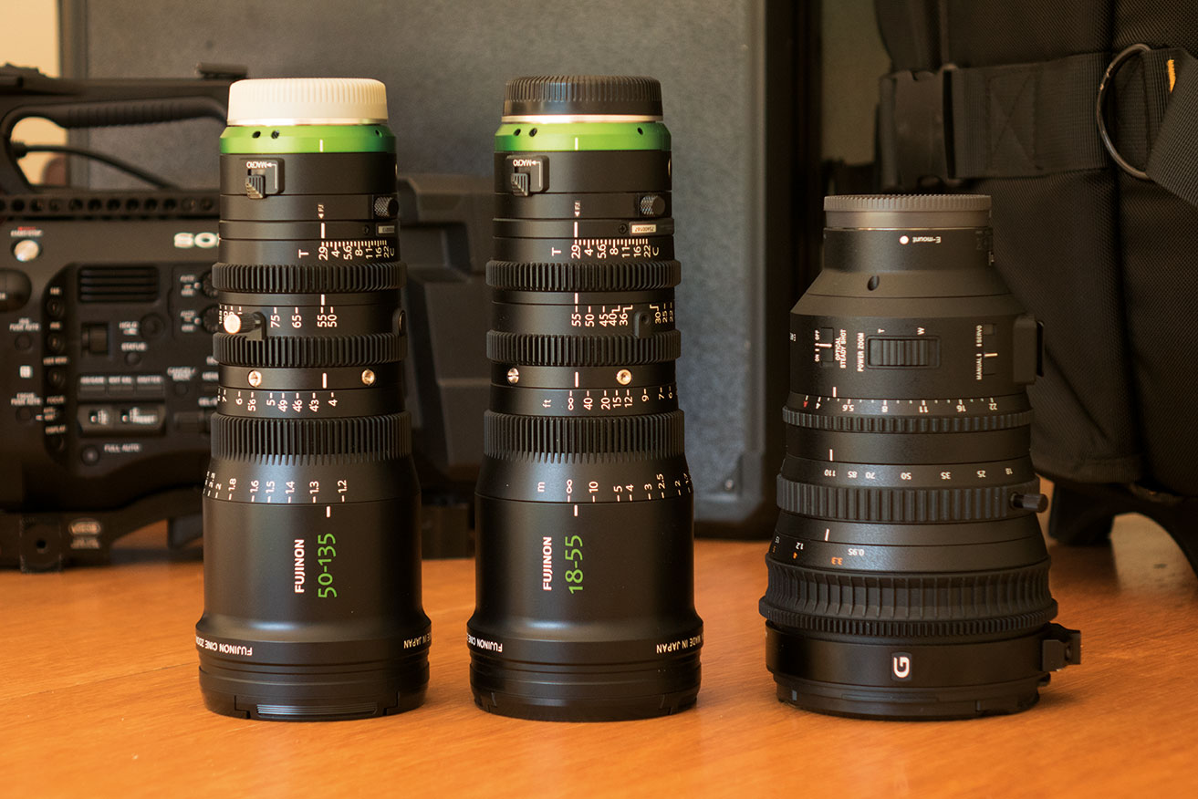 Three great zooms from FUJINON and SONY.
