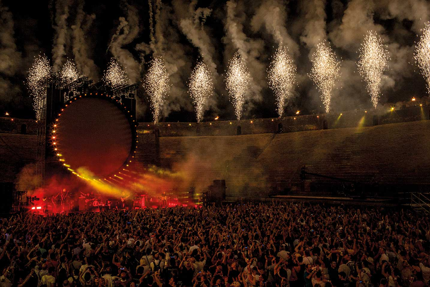 Pompeii had long been planned as the venue for the 4K film. © David Gilmour