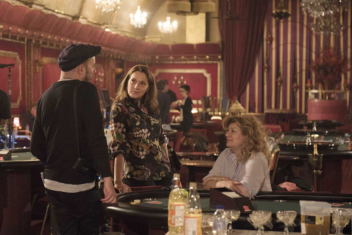 Behind the scenes at The Rivoli Ballroom with director Paul McGuigan, producer Barbara Broccoli and hair and make-up designer Naomi Donne.