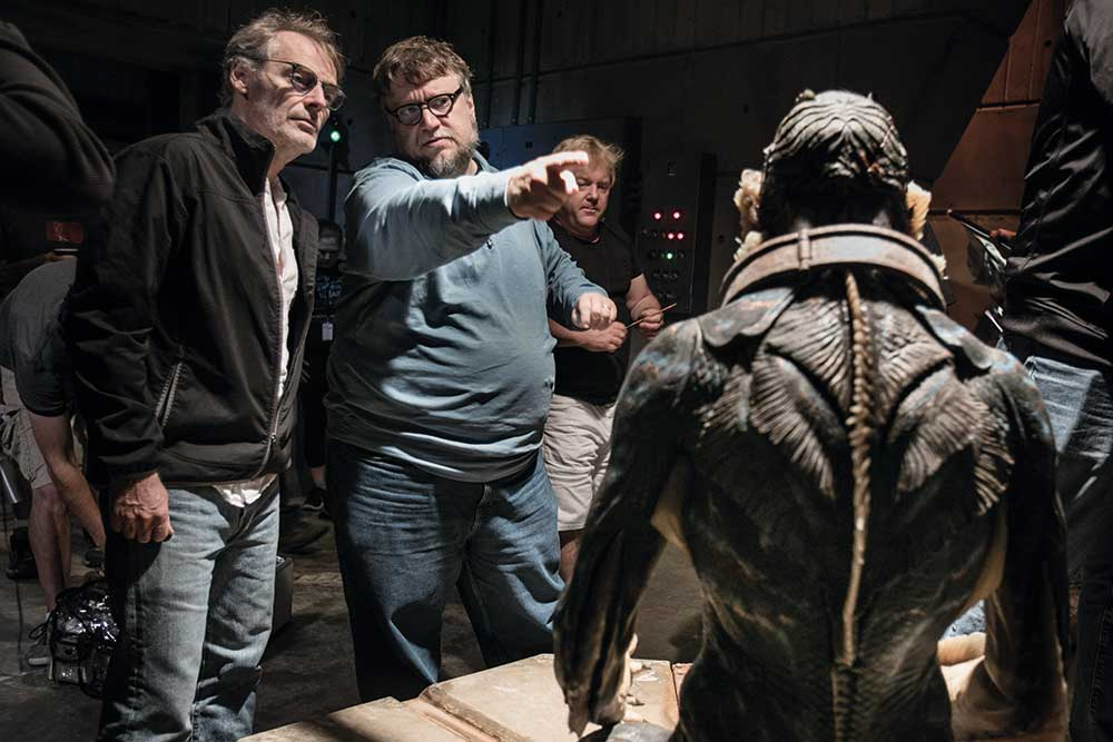 DOP Dan Laustsen on set with Guillermo.