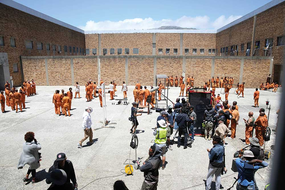 The Forgiven is shot on location in Cape Town's Pollsmoor Prison.