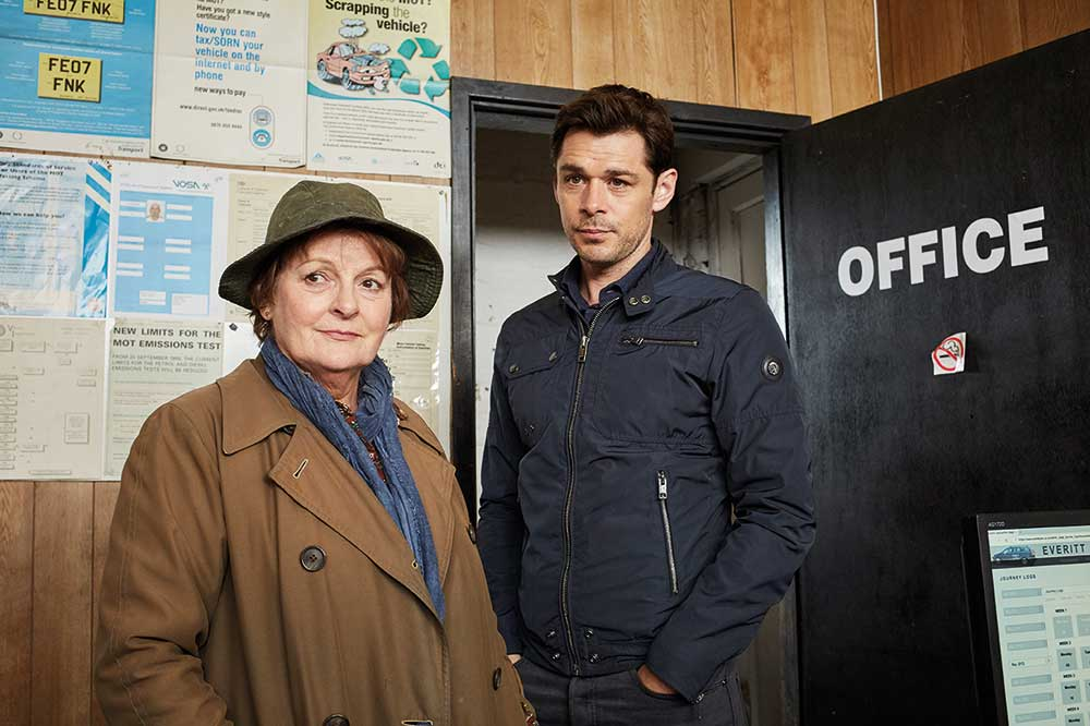 Brenda Blethyn as DCI Vera Stanhope and Kenny Doughty as DS Aiden Healy.