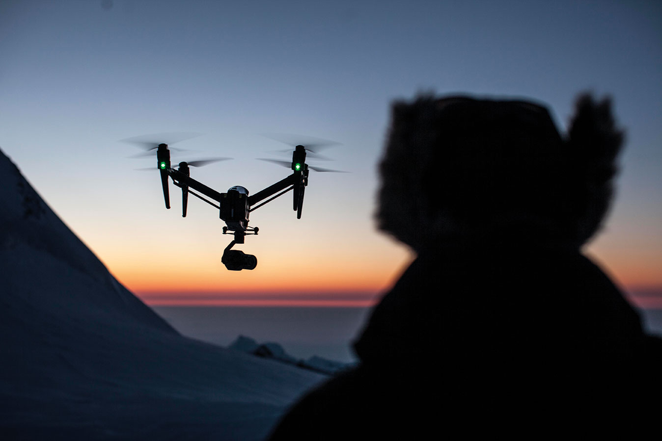 Working at over 4000m and -30°C is a real test of any drone – and the human operator.