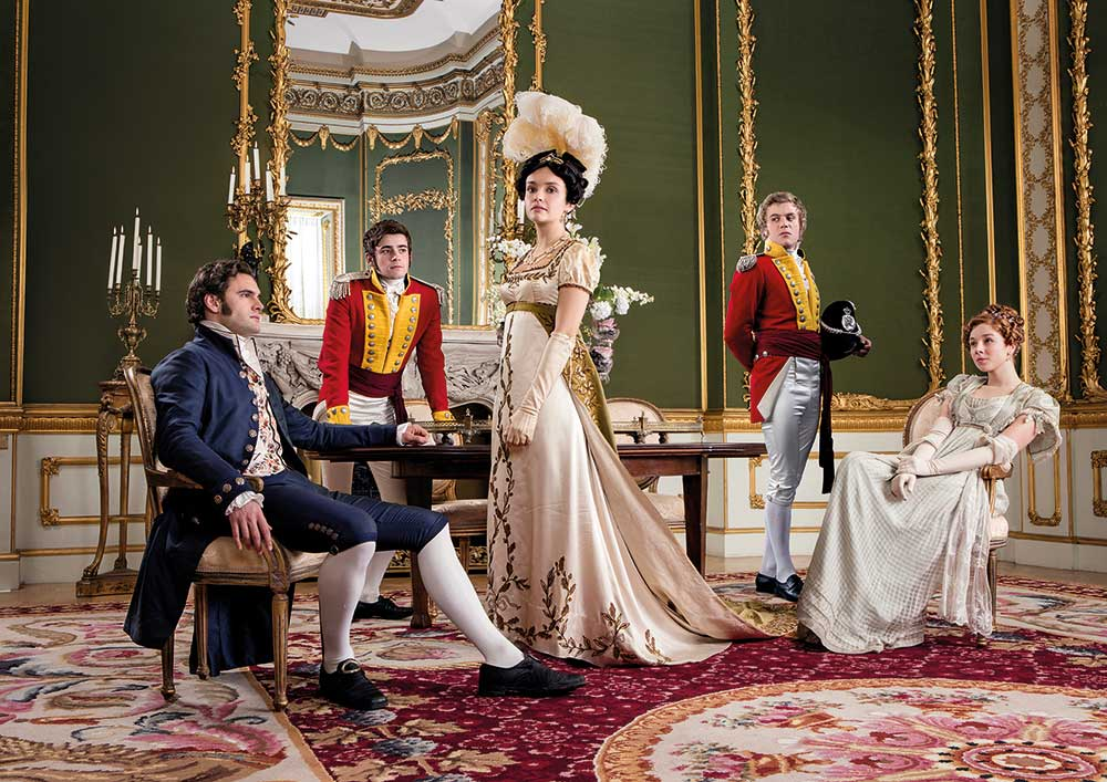 Group shots were often shot as tableaus, ironically in a Vanity Fair Magazine Annie Leibowitz style.
