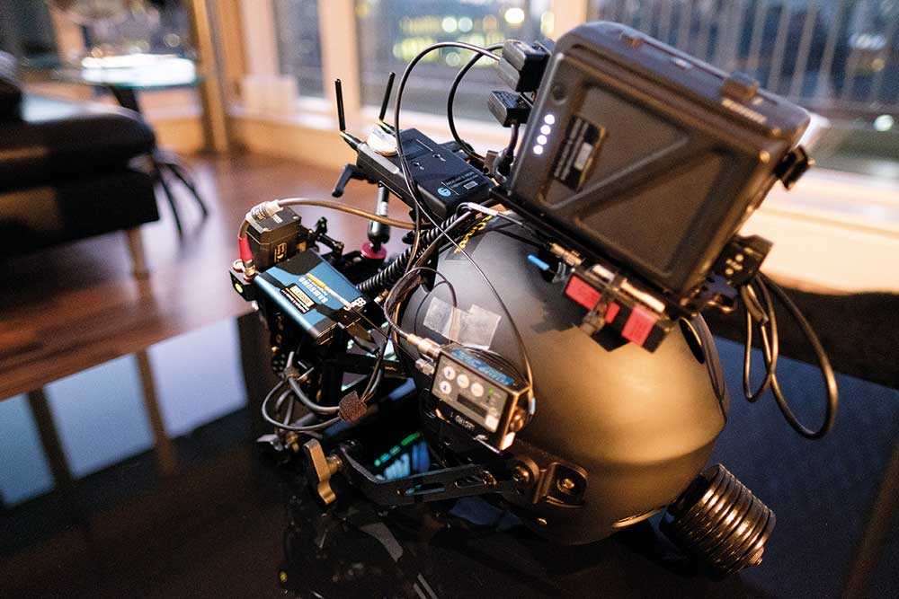 ABOVE Ed Moore's POV Head cam rig uses Samsung Portable SSD T5 drives. © Ed Moore