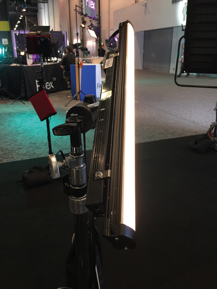 The LightBlade Edge series tube light from Cineo Lighting and NBCUniversal