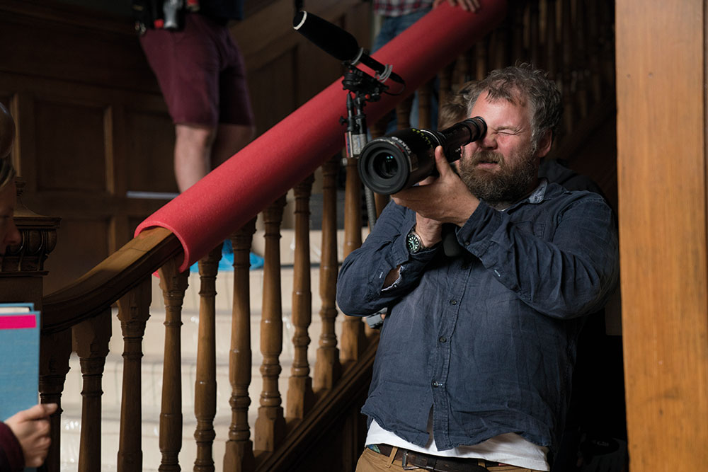 DOP George Steel setting up a shot