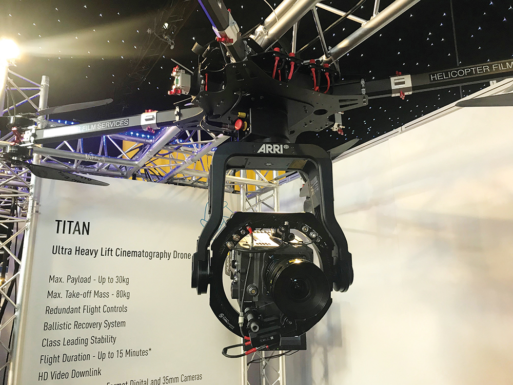 The new Titan drone from Helicopter Film Services
