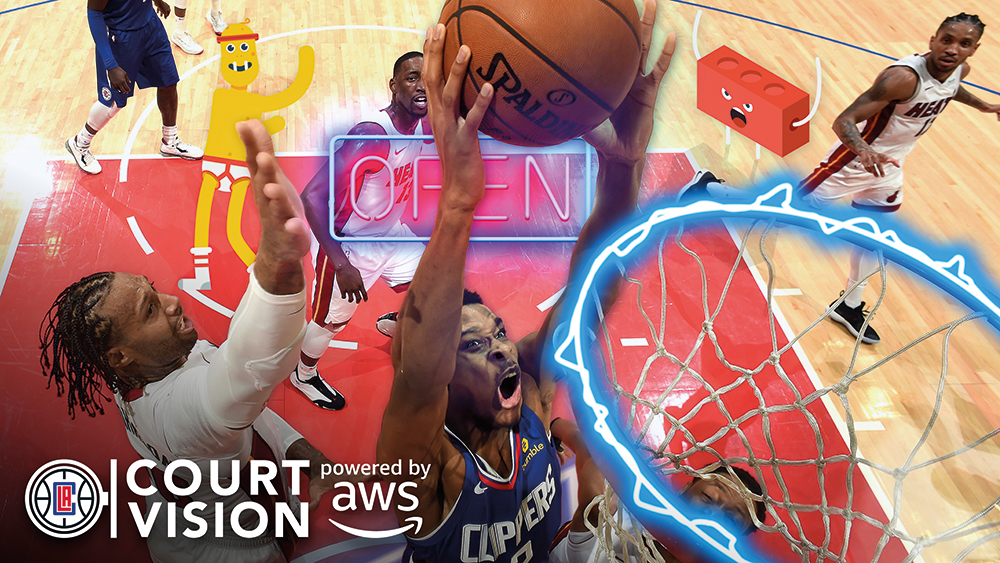 NBA's LA Clippers' CourtVision is an augmented reality game-watching platform