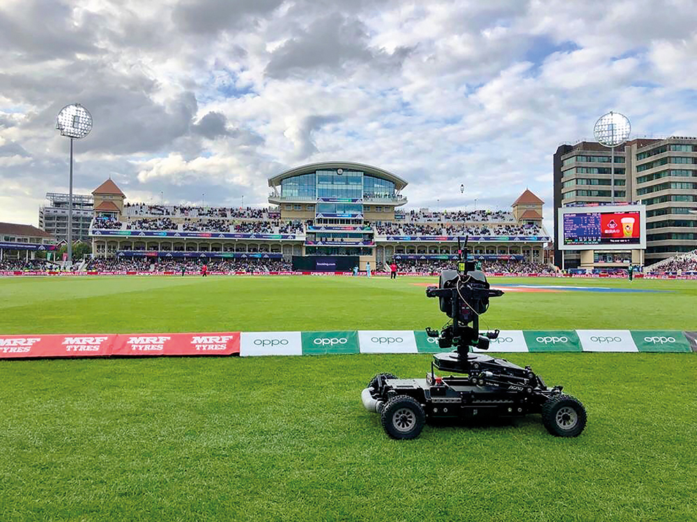 Motion Impossible's Agito remote camera vehicle became a firm favourite at the ICC Cricket World Cup