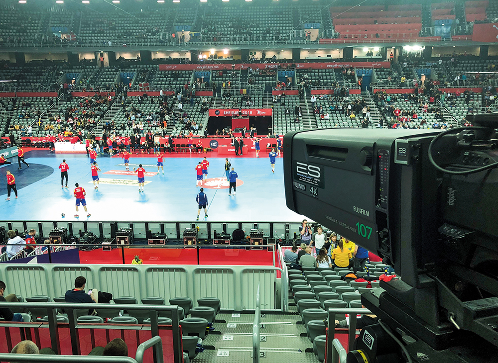 European men's handball, captured in 4k UHD