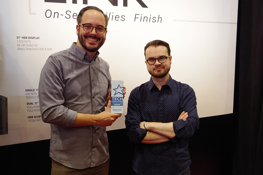 Ian Vertovec (left) and Michael Cioni (right) with their Colour Science award