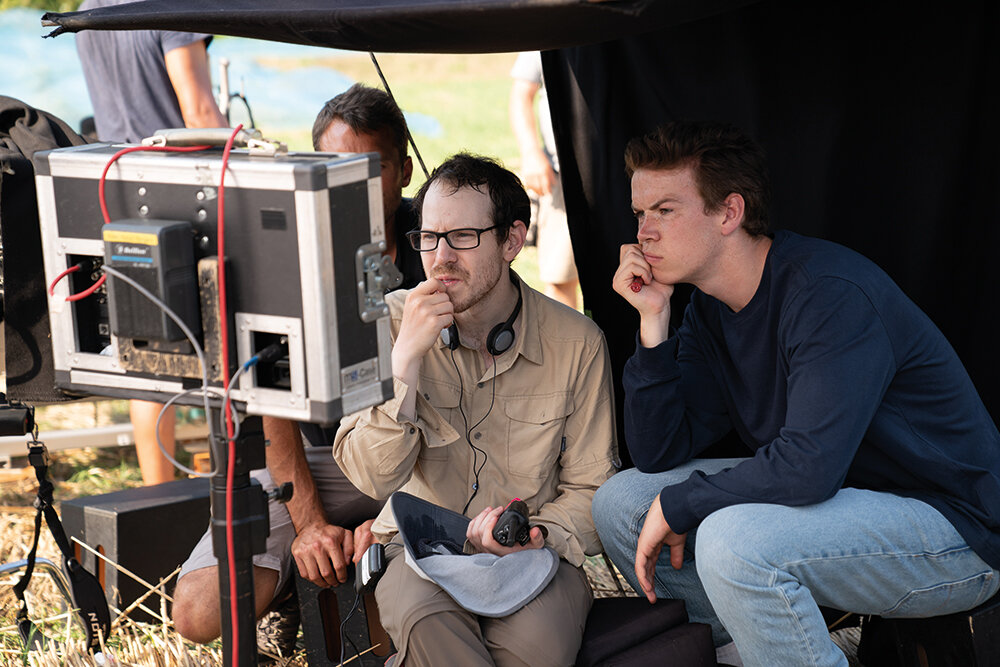 Ari Aster and actor Will Poulter, who played mark in  Midsommer