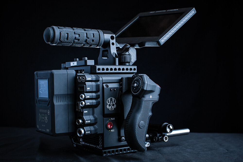 CoreSWX's Helix battery on a Red camera