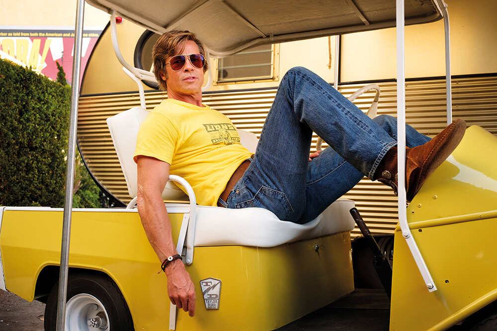 Brad Pitt as Cliff Booth, a stunt double, in Once Upon a Time in Hollywood, which Élodie Ichter worked on as a colourist