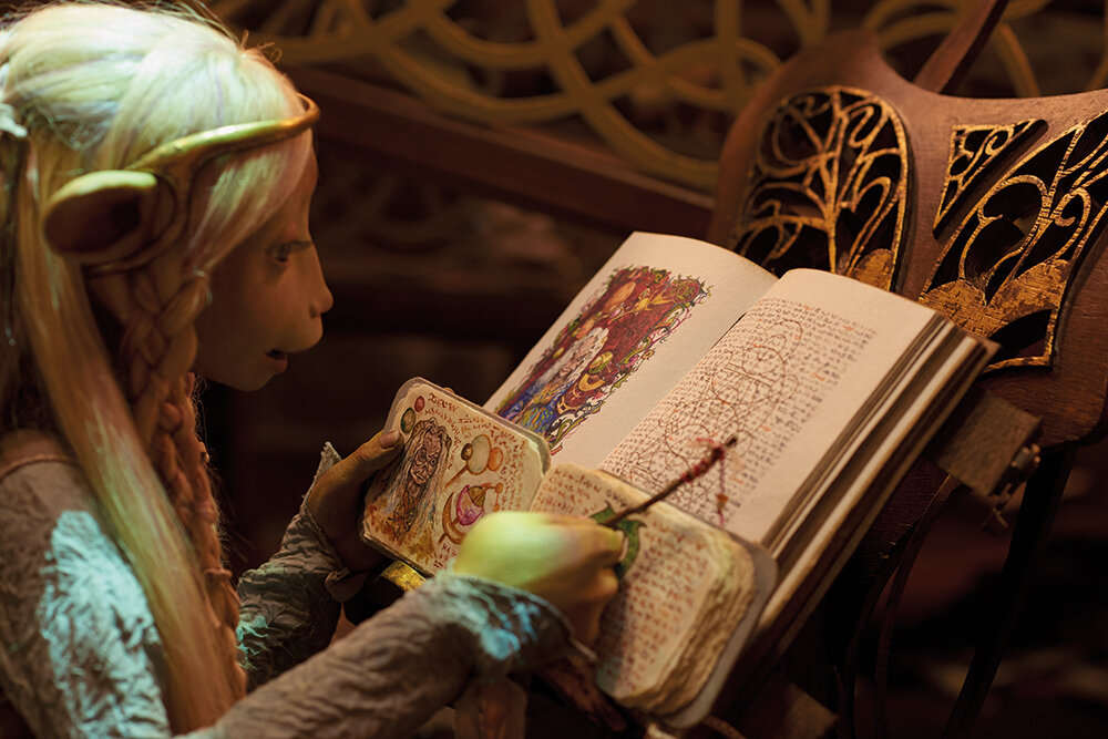 A still from Netflix's The Dark Crystal spin-off series, on which Katie Jordan worked as a colourist