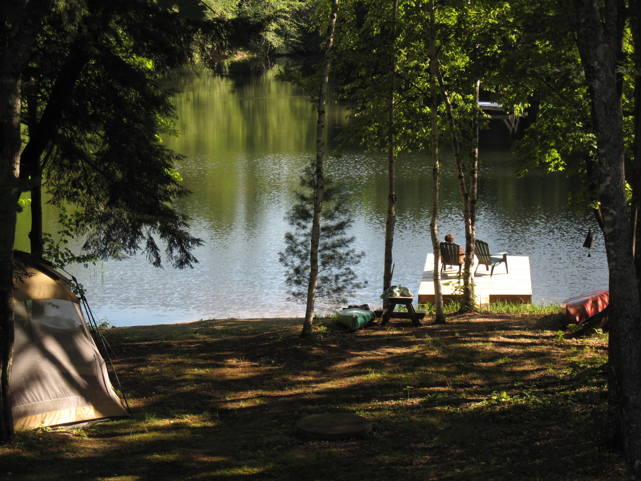 Private water access and camping.