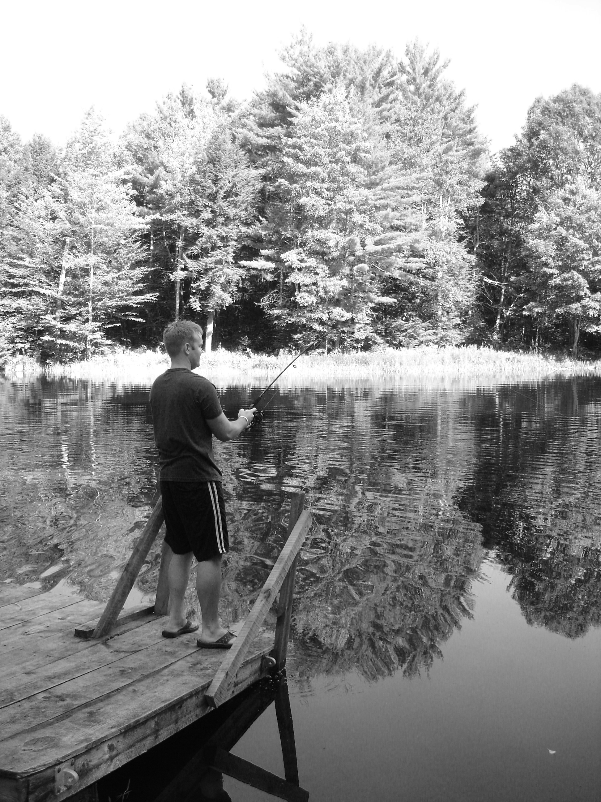 Private land does not require a license to fish.