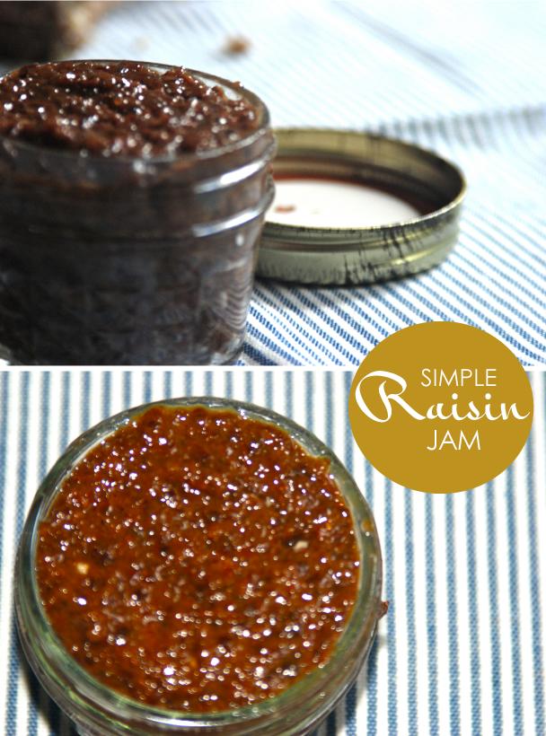 Easy Healthy Raisin Jam