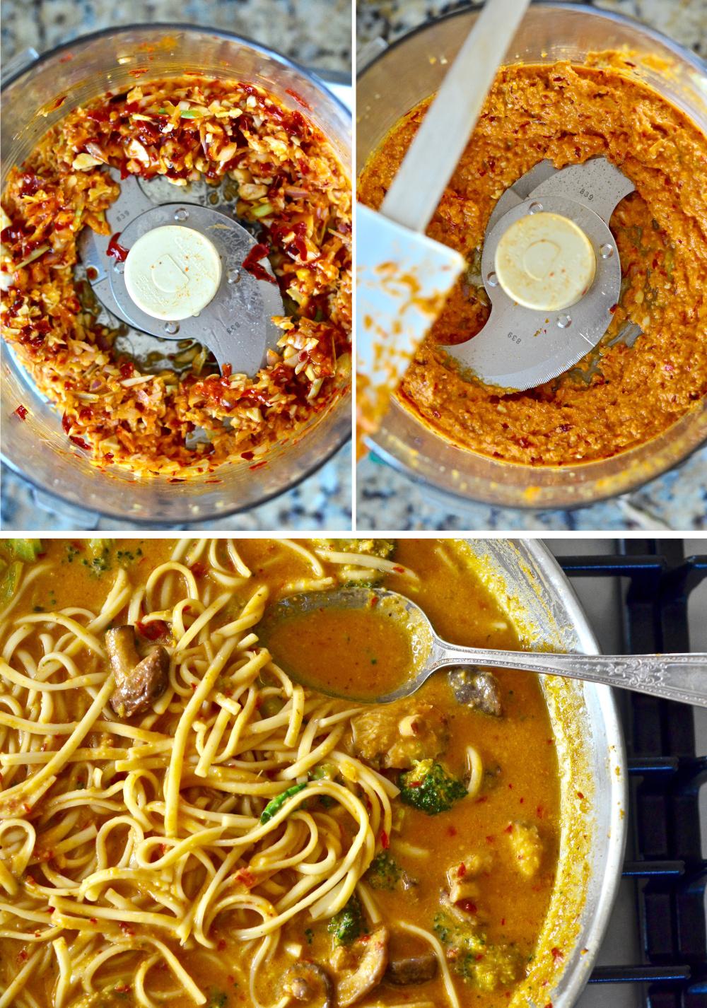 Homemade Vegetable Laksa Soup with Noodles. Recipe via @PureMamas   gluten-free vegan