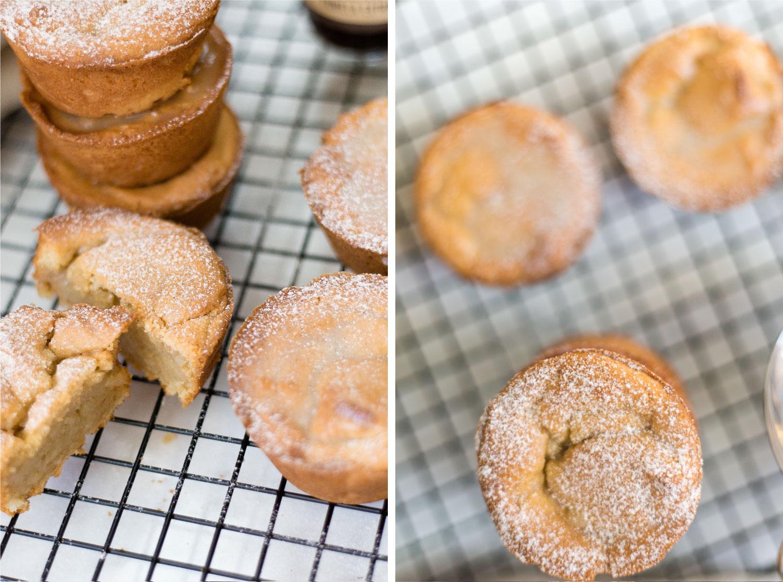 vanilla bean + lemon gluten free vegan muffins recipe | #puremamas