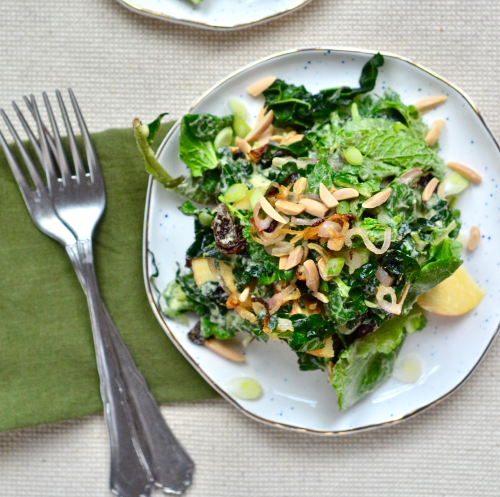 Fall Salad & Avocado Dressing