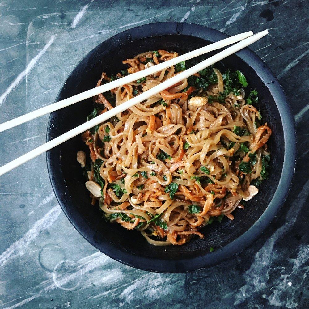 Sweet Potato Vietnamese Rice Noodle Bowl
