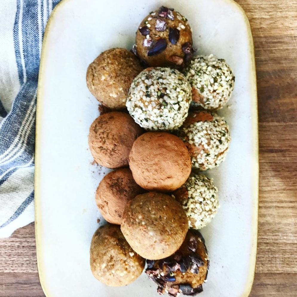 Tahini Cardamom Protein Balls