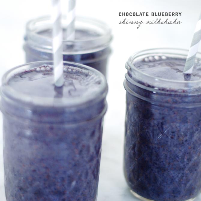 Chocolate Blueberry Milkshake