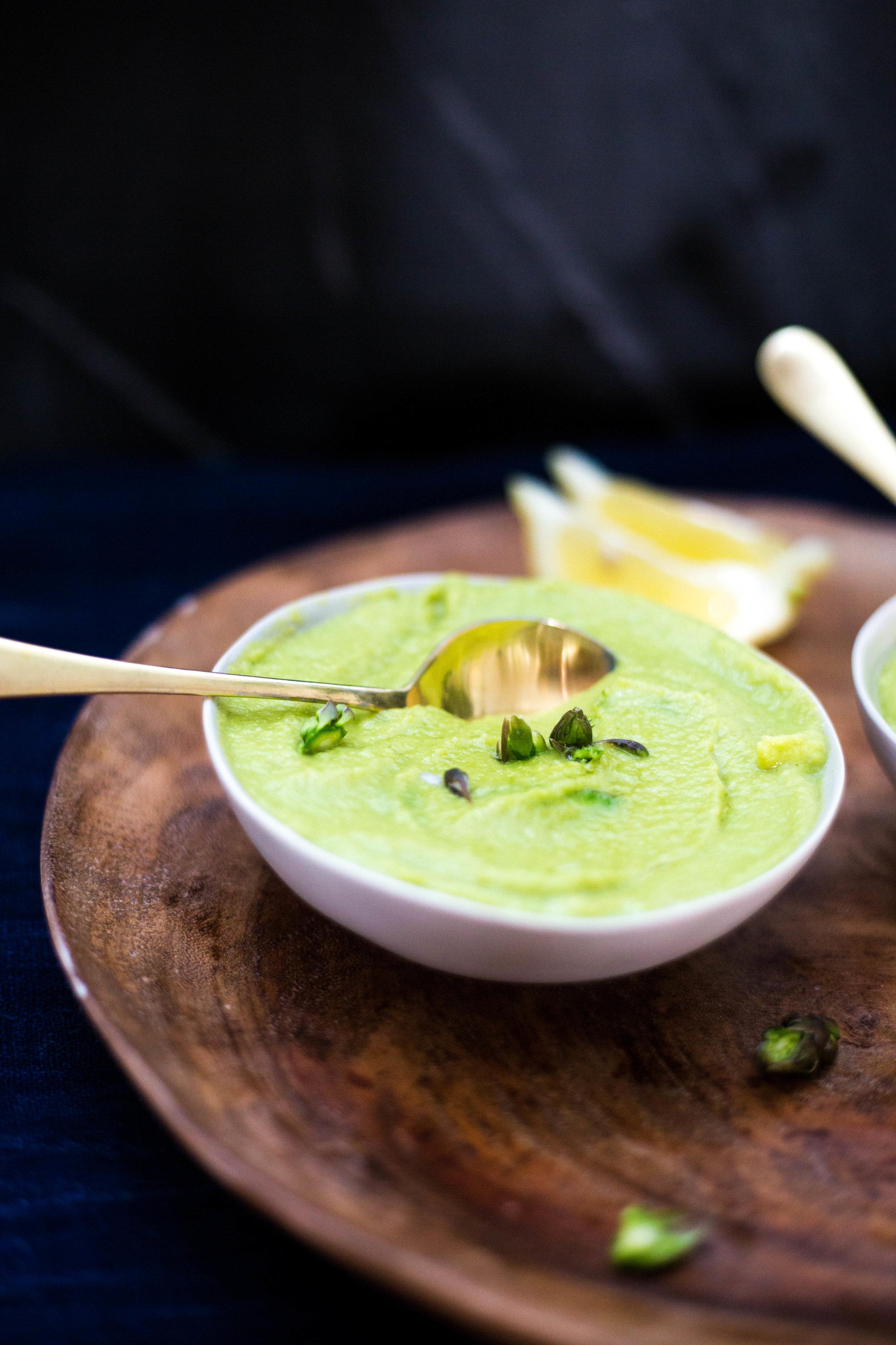 Cleansing Fennel Asparagus Gazpacho Soup