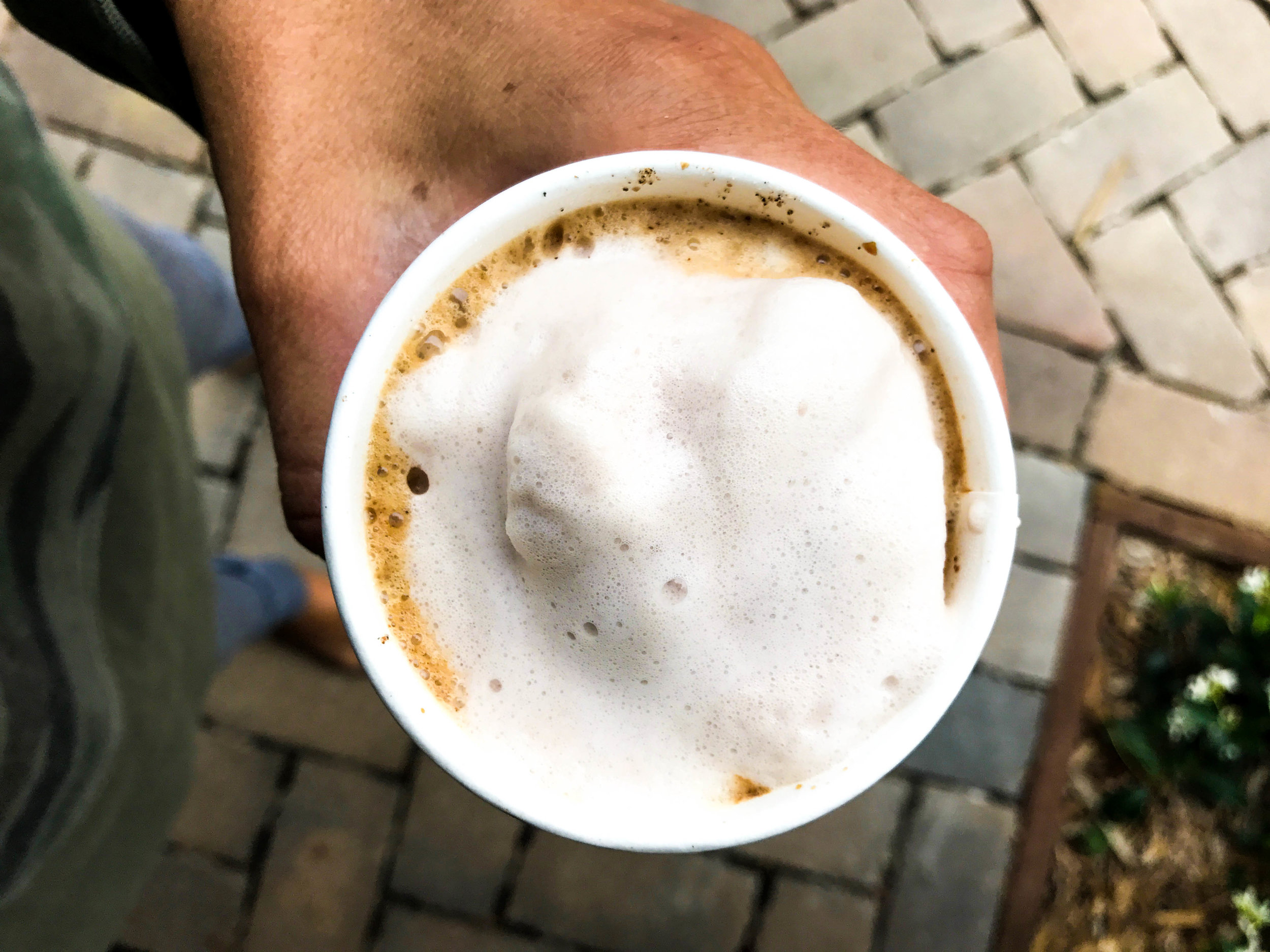 Hazelnut Milk Lattes with cardamom and sugar!   Recipe is vegan plant-based homemade