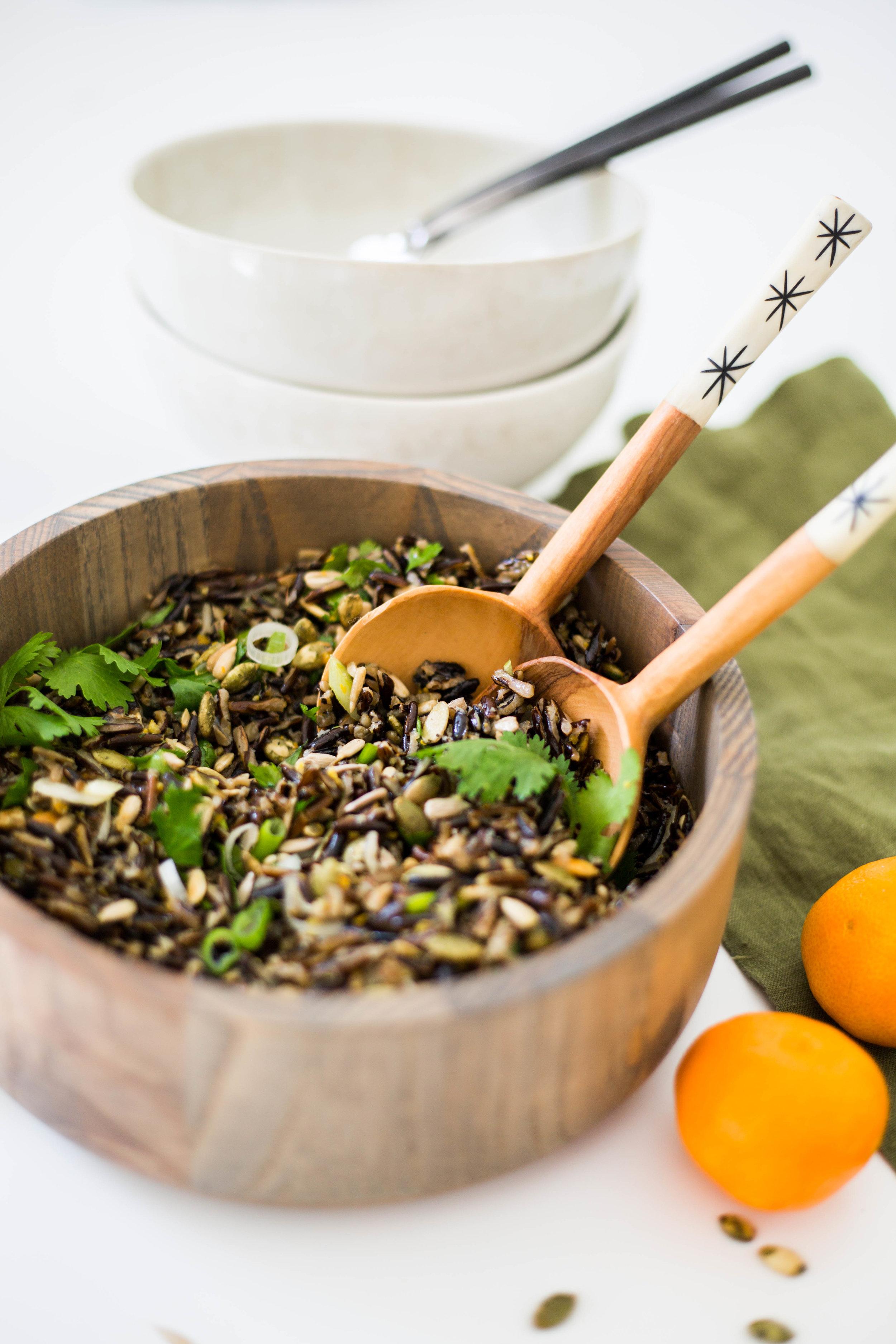 Superfood Protein-packed Wild Rice Salad #vuori #purekitchenblog #plant-based #vegan #dairyfree