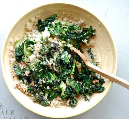 Crunchy Kale & Walnut Quinoa Salad