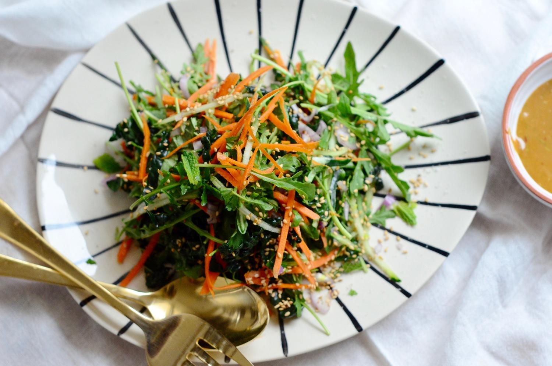 Tahini Kale & Herb Salad