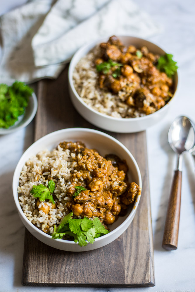 Vegan Curry with Chickpeas Recipe #purekitchen #puremamas