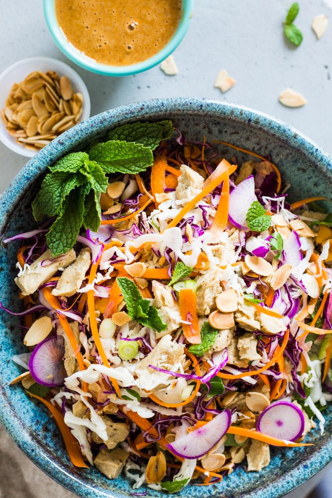 "Chinese ""Chicken"" Salad | Vegan Recipe Makeover | Detox Friendly!  #puremamas #purekitchen"