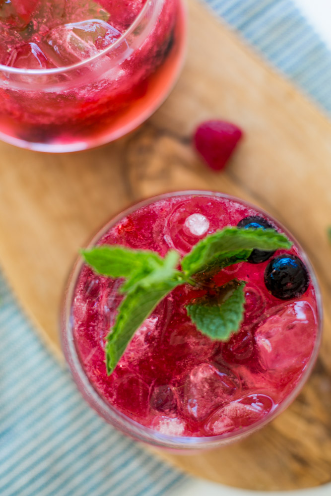 Vodka Berry Bombs | Fresh fruit Cocktail Recipe