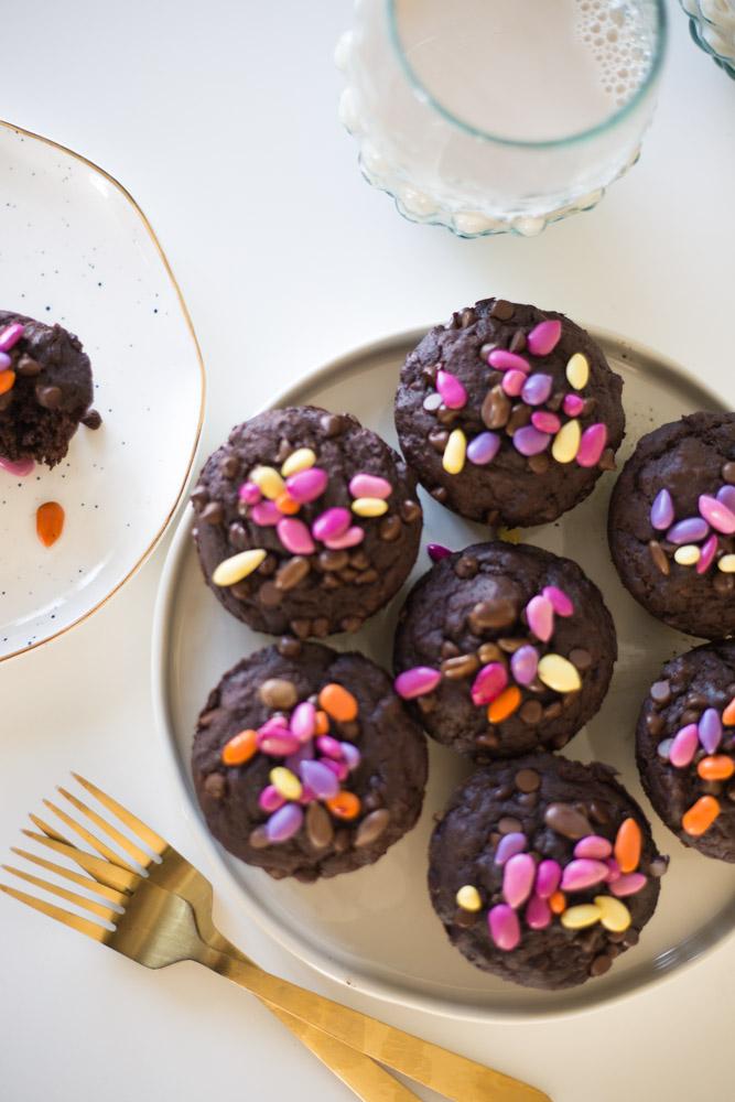Chocolate Banana Muffins (gf vegan)