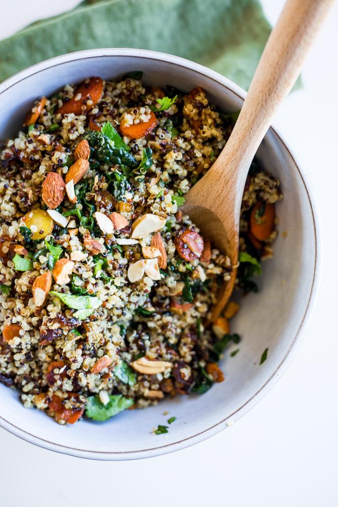 Maple Glazed Carrot Quinoa Salad #vegan #recipe #purekitchenblog