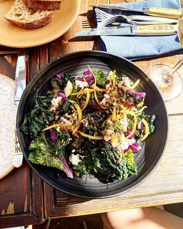Kale salad amazingness! Nothing more@to day @campfirerestaurant . . . . . . . . . . #healthycommunity #plantbasedpower #wholefoodplantbased #dairyfreefood #feedfeedvegan #veggiepower #plantpoweredfamilies #veganfamily #veganeating #fitfoodiefinds #whatveganscook #veganfoodlover #givemethatplant #plantbasedwholefoods #plantbasednutrition #buzzfeastfood #vegansauce #healthycomfortfood #vegancomfortfood #dairyfreelife #plantbasedvegan #healthyfoodie #healthyfoodrecipes #healthyfoodlover #healthyishappy #healthyoptions #healthyvegan #feedfeedglutenfree #glutenfreerecipes #quickandhealthy